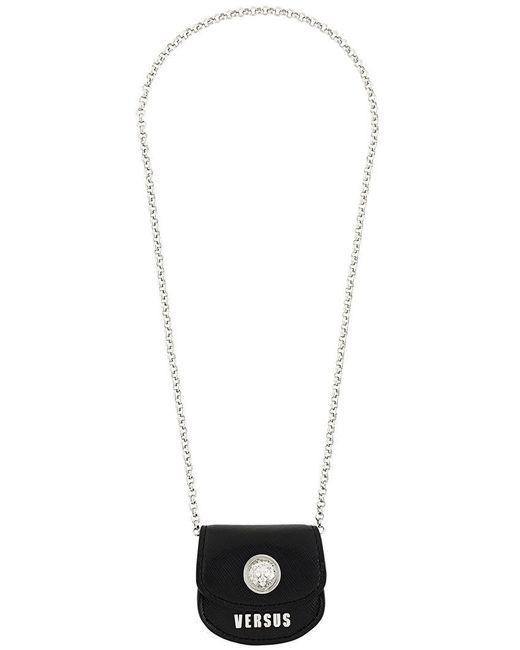 Versus  | Black Coin Bag Necklace | Lyst