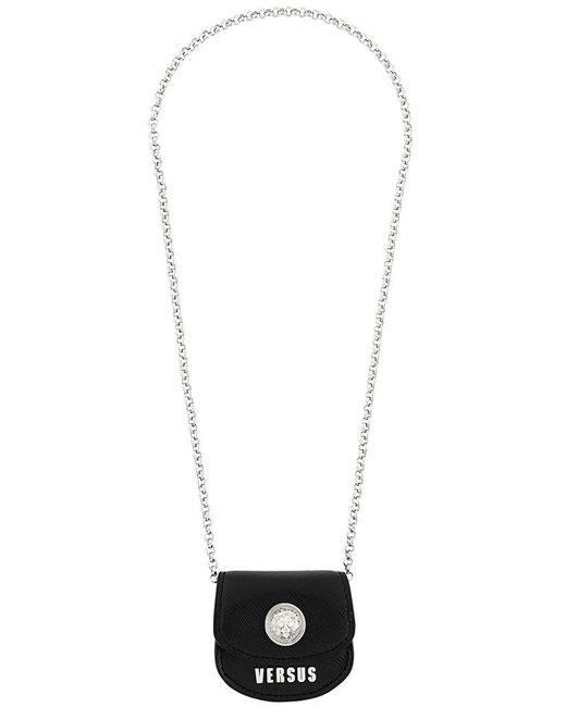 Versus  | Black Coin Bag Necklace | Lyst