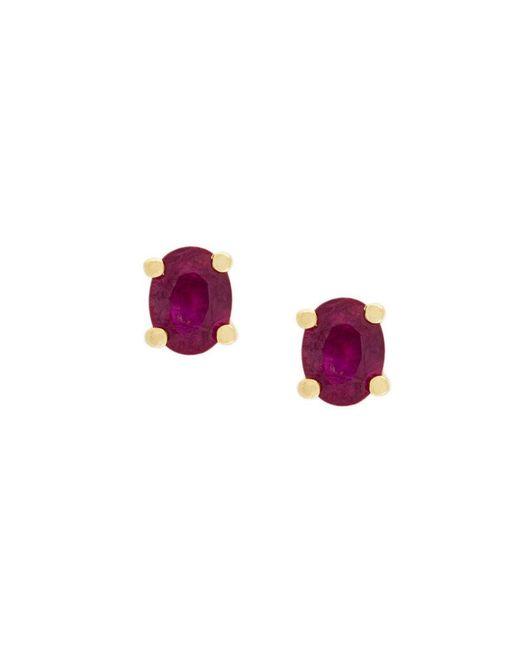 Wouters & Hendrix | Metallic Ruby Stud Earrings | Lyst