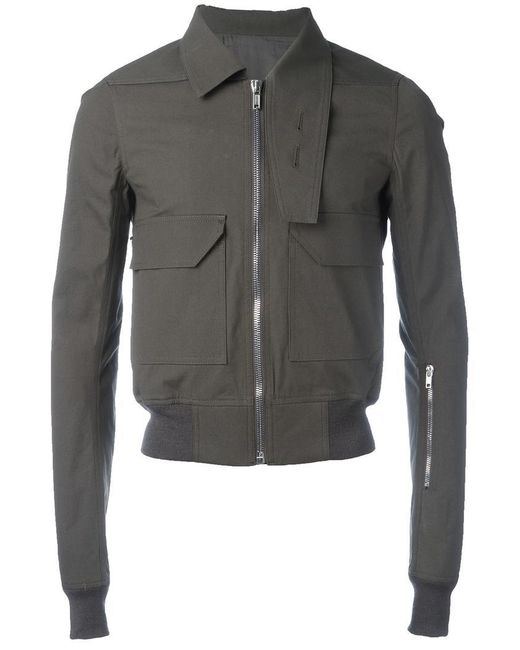 Rick Owens | Gray Oblong Collar Jacket for Men | Lyst
