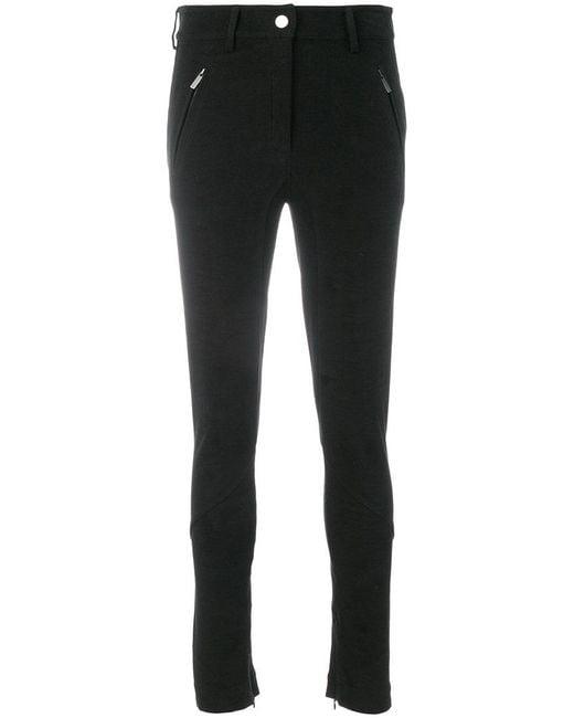 Gentry Portofino - Black Zipped Cuff Skinny Trousers - Lyst