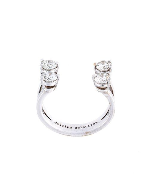 Delfina Delettrez - Metallic 'dots' Diamond Phalanx Ring - Lyst