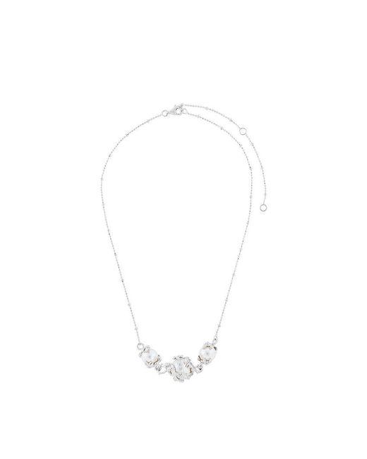 Kasun | Metallic Three Pearl Necklace | Lyst