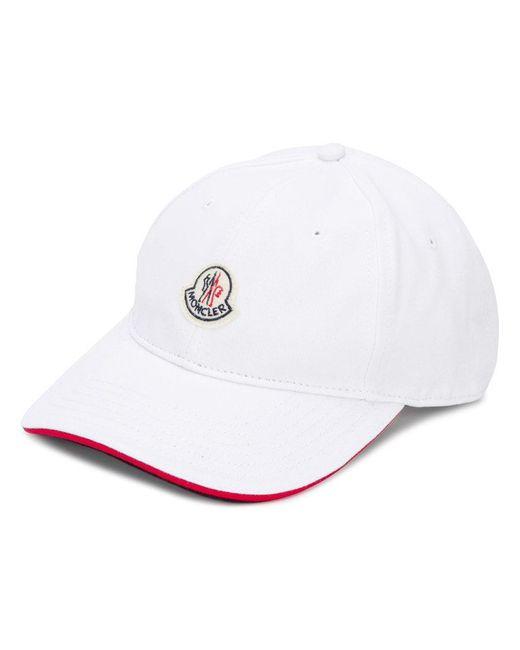 99e13c13615 Lyst - Casquette à patch logo Moncler pour homme en coloris Blanc