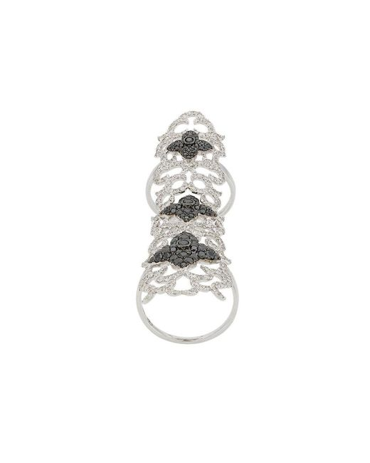 Elise Dray - Metallic Embellished Cuff Ring - Lyst