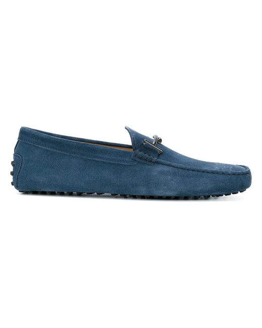Tod's | Blue Double T Gommino Loafers for Men | Lyst