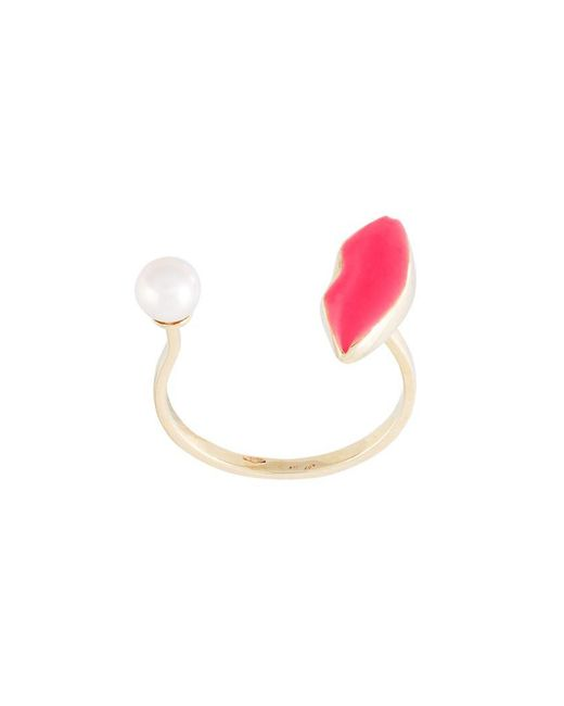 Delfina Delettrez - Multicolor 'lips Piercing' Ring - Lyst