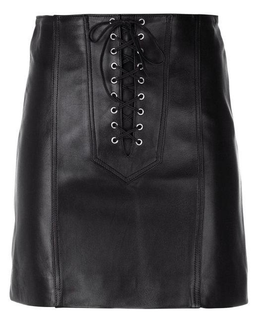Manokhi - Black Short Lace-up Skirt - Lyst