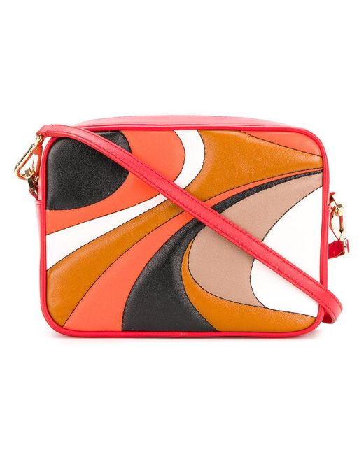 Emilio Pucci | Red Block Panel Crossbody Bag | Lyst