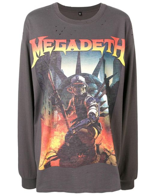 R13 - Gray Megadeth Loose T-shirt - Lyst