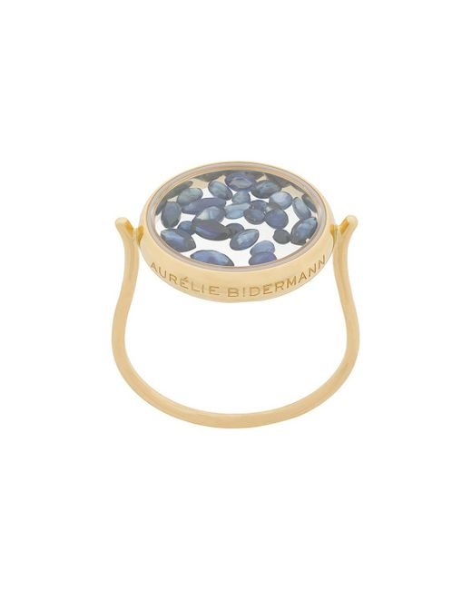 Aurelie Bidermann Metallic 18kt Yellow Gold Chivoir Sapphire Ring