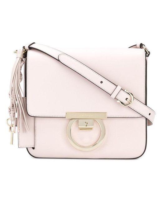 Ferragamo - Pink Thalia Crossbody Bag - Lyst