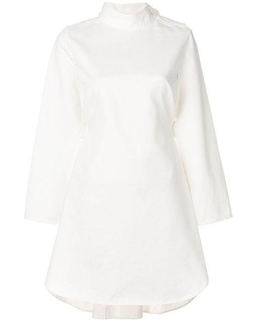 MM6 by Maison Martin Margiela - White Back Belt Dress - Lyst