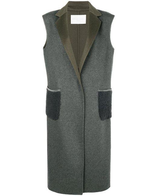 Fabiana Filippi - Gray Sleeveless Single Breasted Coat - Lyst