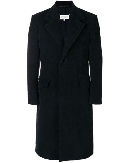 Maison Margiela Blue Long Tailored Coat for men