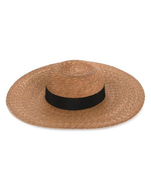 Federica Moretti - Brown Woven Sun Hat - Lyst
