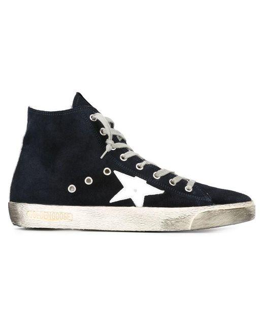 Golden Goose Deluxe Brand - Blue 'francy' Hi-top Sneakers for Men - Lyst