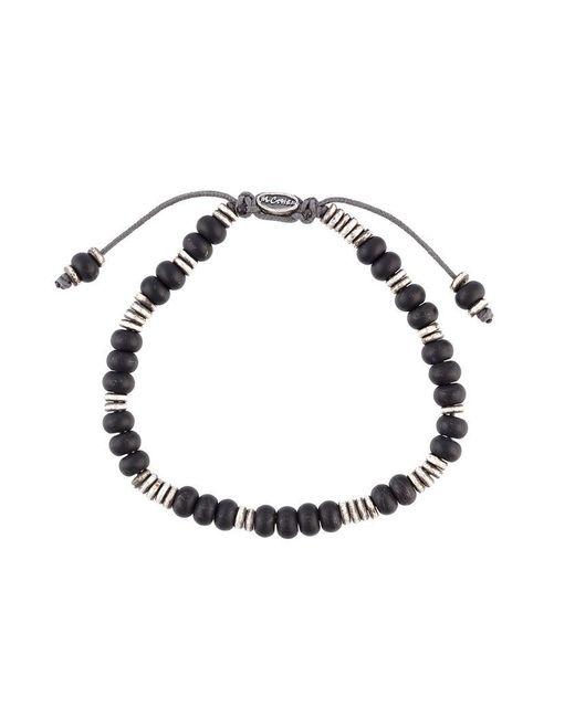 M. Cohen | Black 'templar Disc & Stacked Gems' Bracelet for Men | Lyst