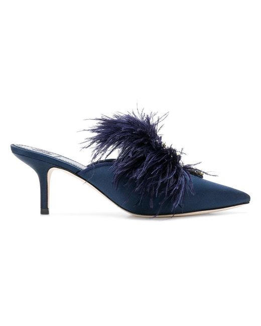 Tory Burch - Blue Elodie Embellished Mules - Lyst
