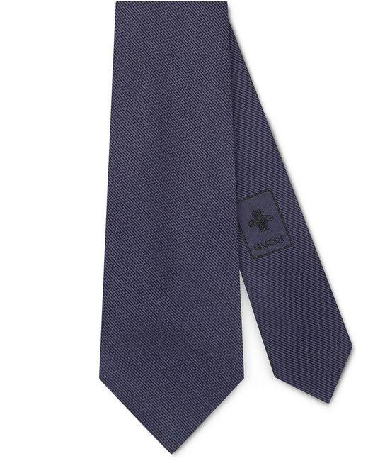 Gucci - Blue Corbata de Seda con Nudo con Águila for Men - Lyst
