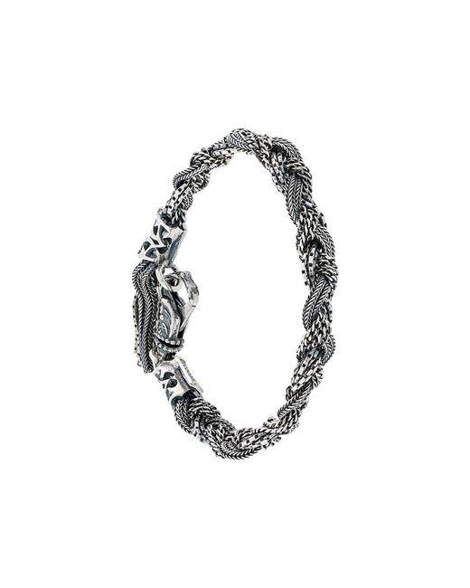 Emanuele Bicocchi | Metallic Woven Bracelet for Men | Lyst