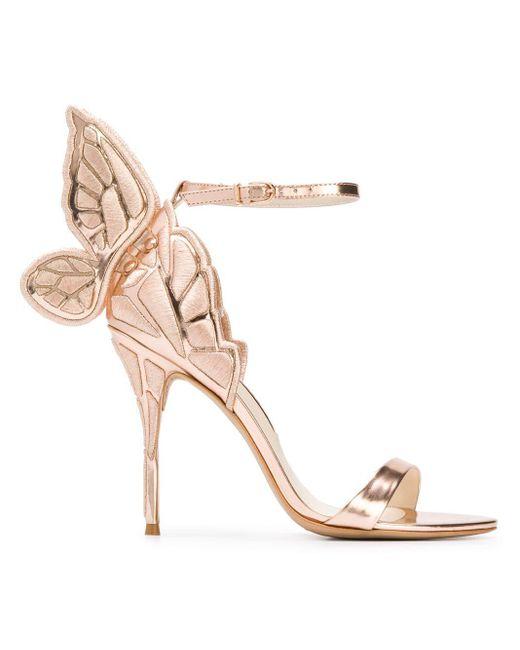 Sophia Webster - Pink Butterfly Heel Sandals - Lyst