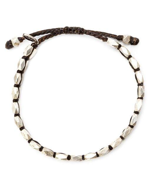M. Cohen - Metallic Faceted Bead Bracelet for Men - Lyst