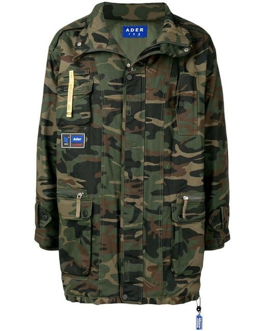 ADER ERROR - Green Camouflage Print Jacket for Men - Lyst