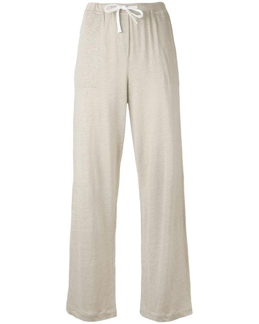 Majestic Filatures - Natural Wide Leg Track Pants - Lyst