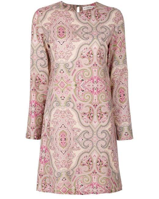 Etro | Pink Paisley Shift Dress | Lyst