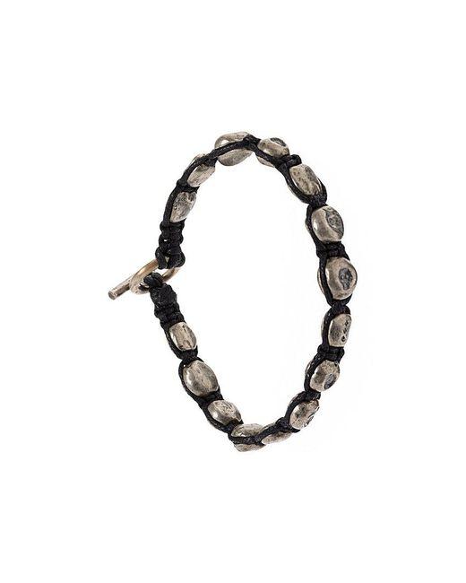 Tobias Wistisen - Metallic Skull Bead Bracelet for Men - Lyst