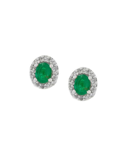 Wouters & Hendrix | Green Emerald Stud Earring | Lyst