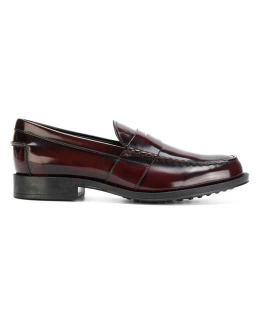 Tod's - Red Classic Loafers for Men - Lyst