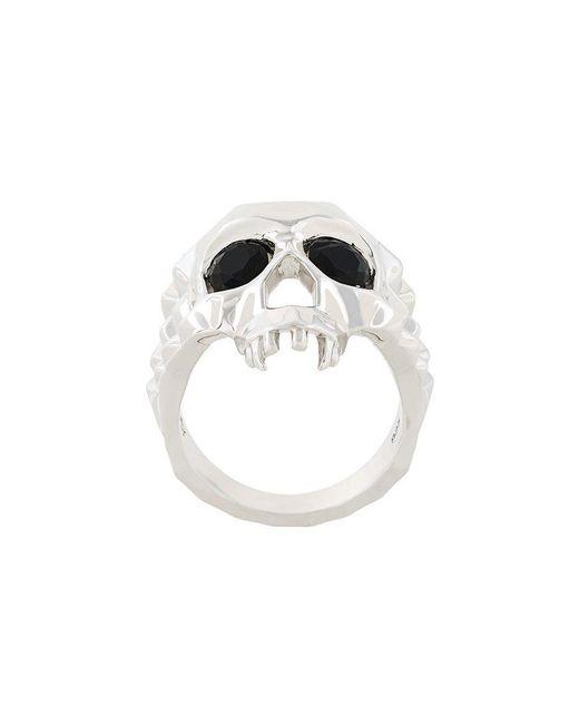 Kasun - Metallic Skull Ring for Men - Lyst