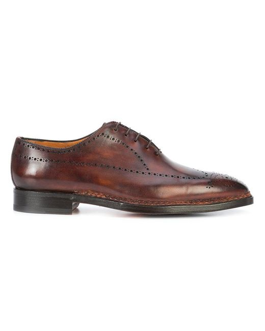 Bontoni - Brown Sciuscia Oxford Shoes for Men - Lyst