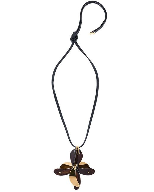 Marni | Black Floral Embellished Necklace | Lyst