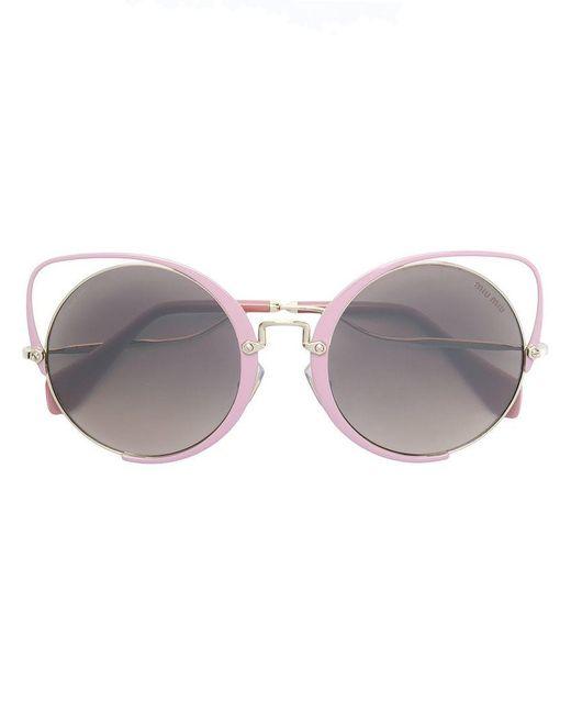 f203d1e28d02 Miu Miu - Pink Scenique Sunglasses - Lyst ...