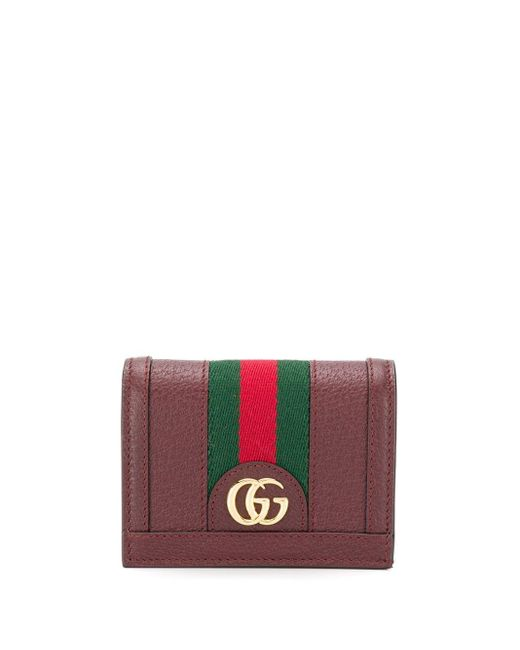 Gucci Red Ophidia GG Card Case