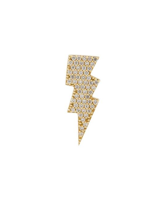 Anton Heunis | Metallic Gold And Diamond Lightning Bolt Earring | Lyst