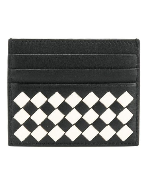 Bottega Veneta - Black Nero Latte Intrecciato Palio Card Case - Lyst