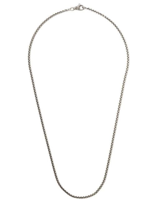 "David Yurman - Metallic 24"" Length Small Box Chain Necklace for Men - Lyst"