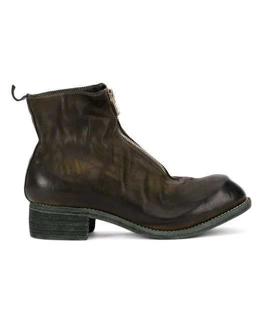 Guidi - Brown Zip-up Distressed Boots for Men - Lyst