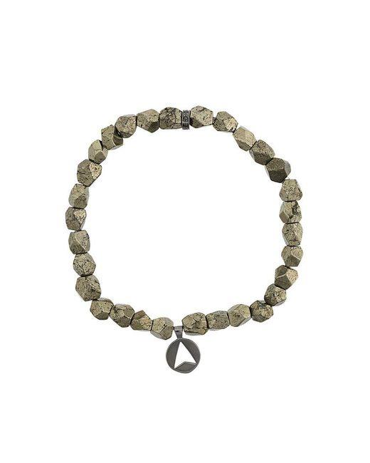 Northskull - Metallic Pyrite Stone Insignia Charm Bracelet for Men - Lyst