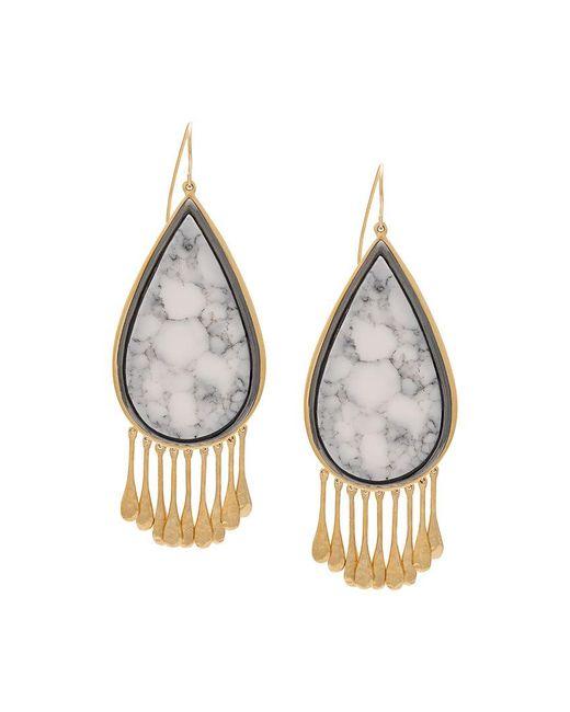 Aurelie Bidermann - Metallic Drop-shaped Earrings - Lyst