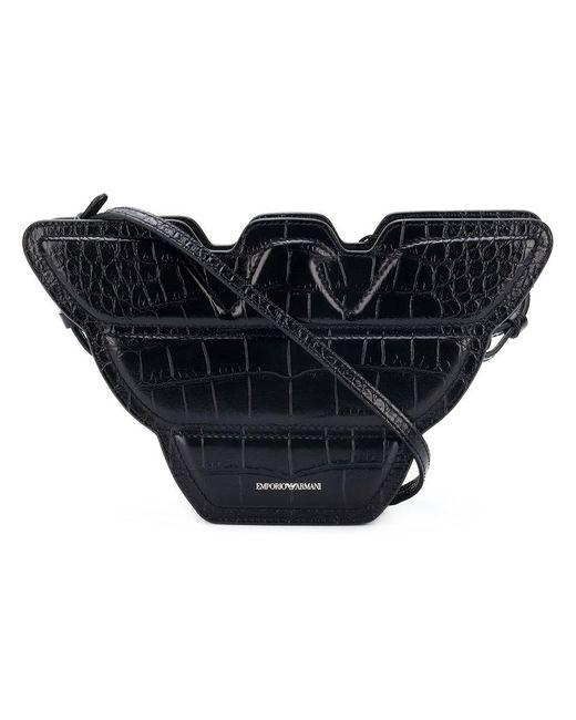 Emporio Armani - Black Logo Shoulder Bag - Lyst