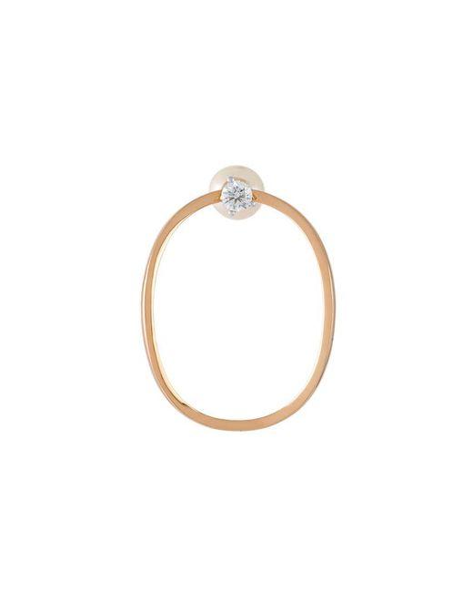 Delfina Delettrez | Metallic Pearl And Crystal Loop Earrings | Lyst