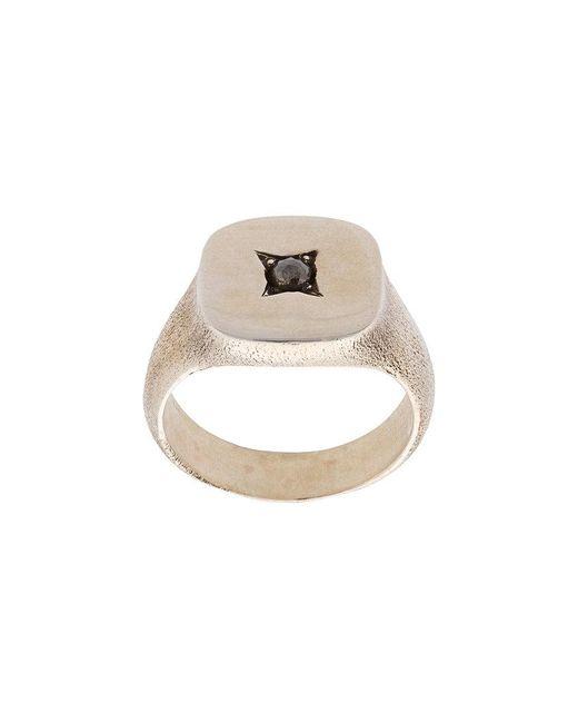 Henson - Metallic Square Signet Ring for Men - Lyst