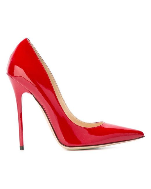 Jimmy Choo - Red Anouk 120 Pumps - Lyst
