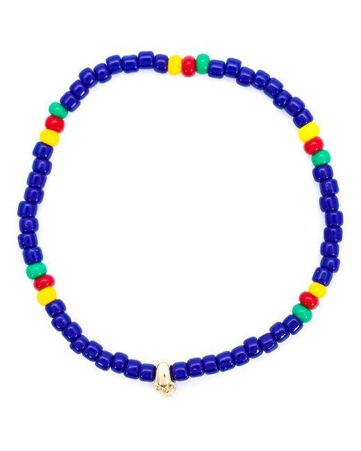 Luis Morais   Blue Mini Skull Beaded Bracelet   Lyst