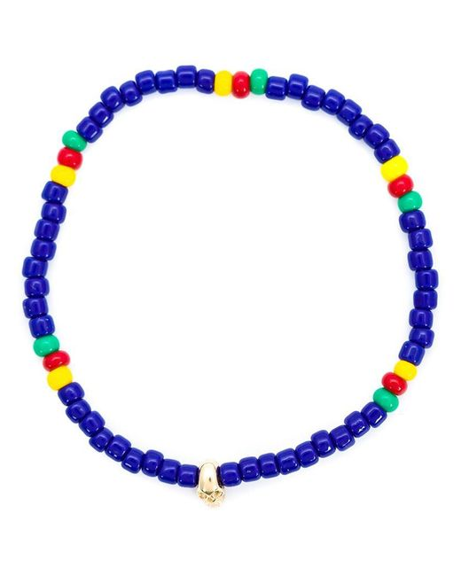Luis Morais | Blue Mini Skull Beaded Bracelet | Lyst
